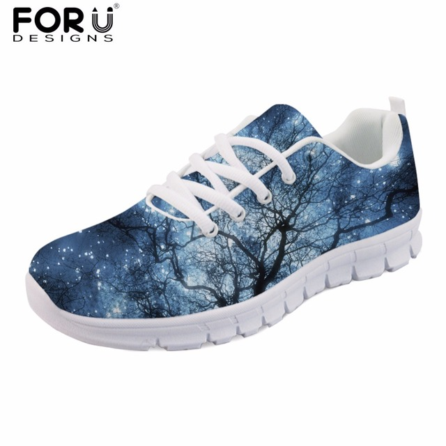 FORUDESIGNS Casual Men s Flats Shoes Comfortable Mesh Men s Sneakers for  Teen Boys Flat Galaxy Spring Shoes d2c63f5bb