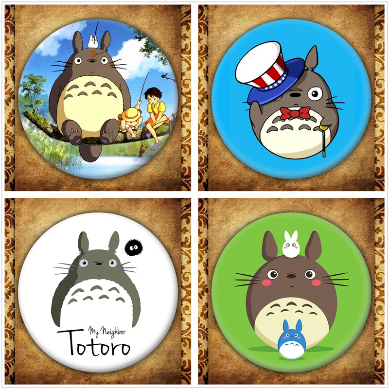 Japanese Anime Hayao Miyazaki Cartoon Figure Totoro No Face man Brooches Pin Jewelry Accessories Bag Decoration
