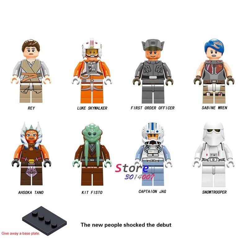все цены на Single Star wars Obi-Wan Kenobi Emperor'S Royal Guard Stormtooper Han Solo Rebel Pilots Figure building block toys for children онлайн