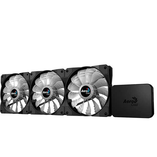 Ventilateur interne Aerocool Project 7 P7f12pro Kit 3 ventilateurs RGB anti-vibracion (inclure moyeu P7h1 à Funcionam
