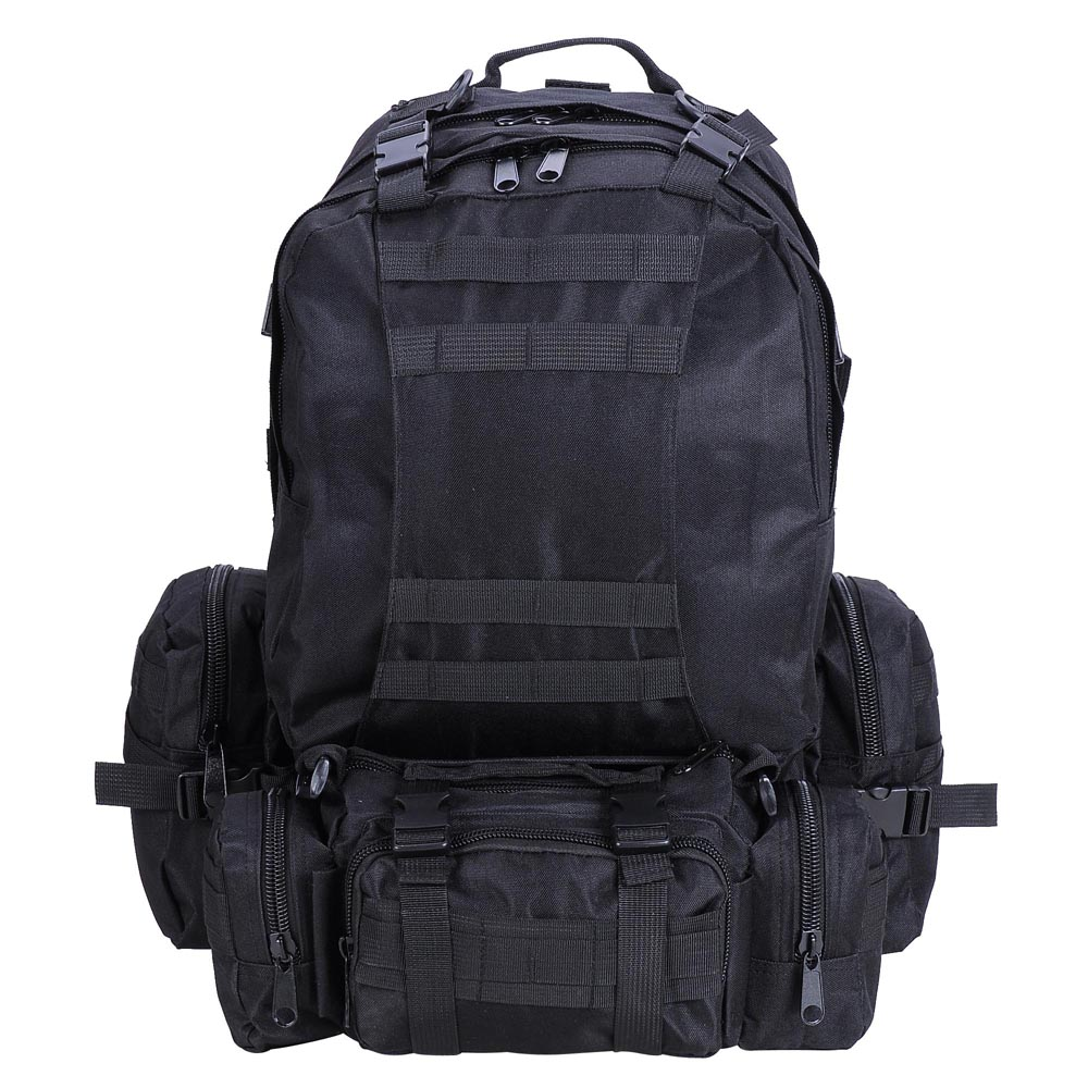 Outdoor Military Molle Army Tactical Backpack Rucksack Sports Camping  Hiking Bag Black Pack-in Climbing Bags from Sports   Entertainment on  Aliexpress.com ... 00d7ba44545