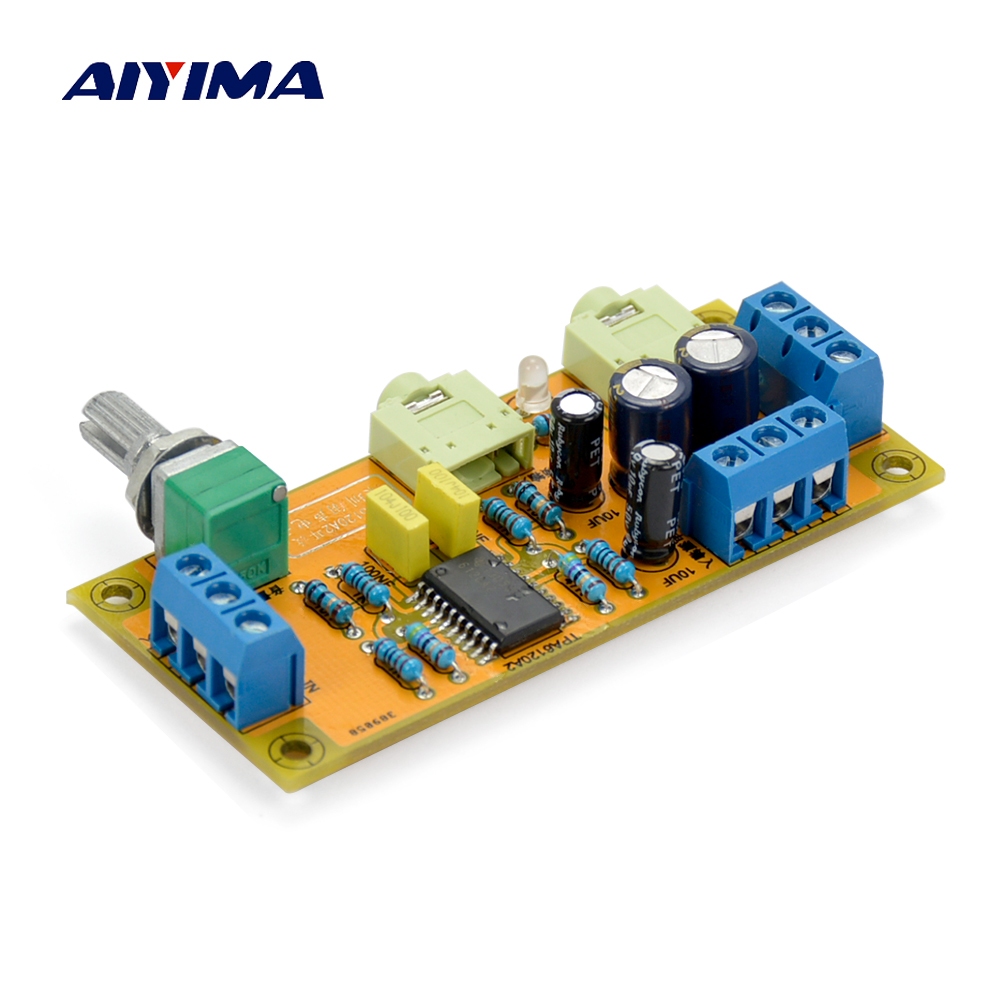 Aiyima TPA6120 Headphone Amplifier Board Amplificador TPA6120A2 Mini Double Channel Headphone Amplifier Diy
