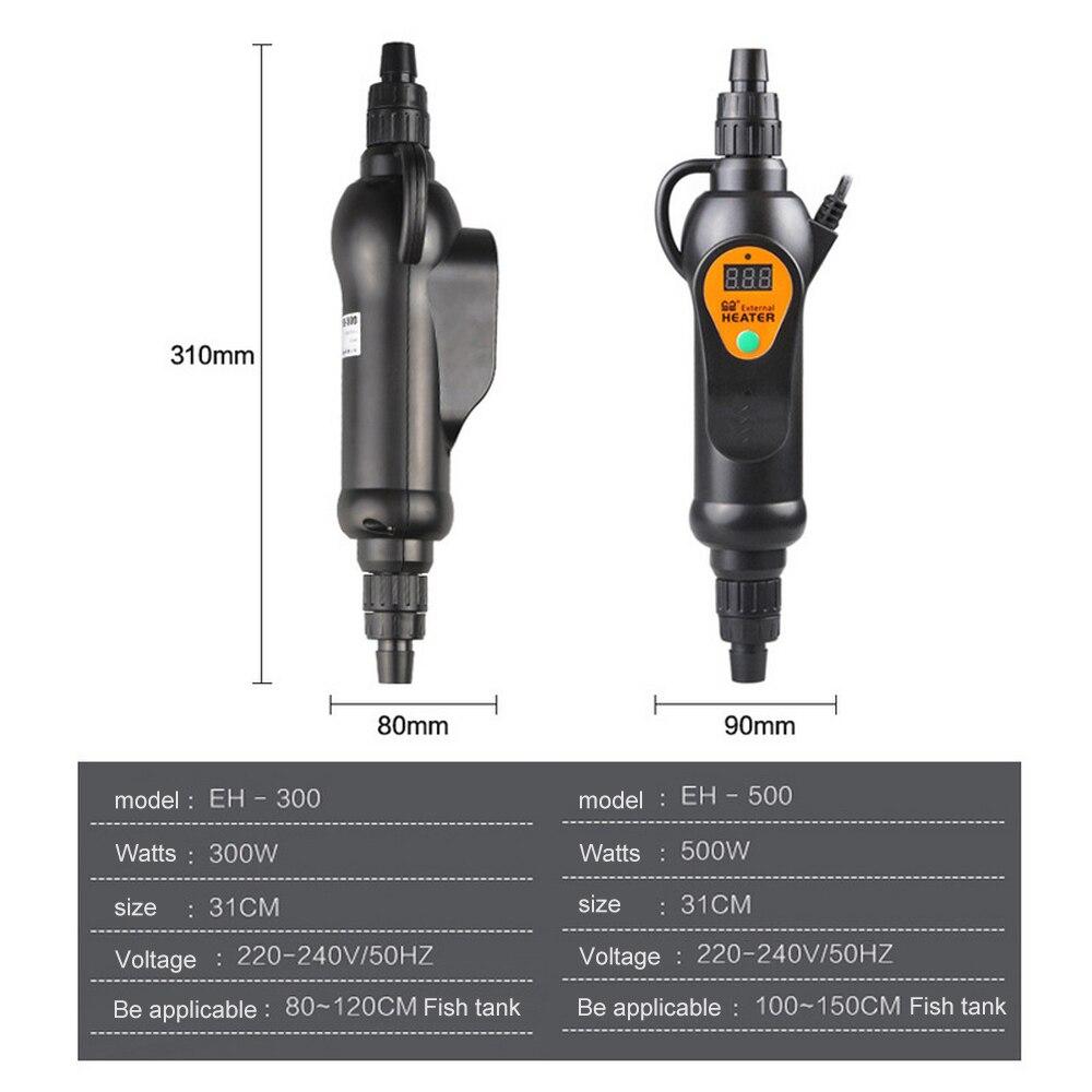 Adjustable Temperature External Heater 20 To 35 Degree Aquarium Fish Tank LCD Dispaly 220V EH 300/500 300/500w Standard Adapter