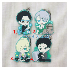 Otaku skating Anime Keychain Yuri On Ice Yuri Viktor Katsuki Otabek Altin Keyring Phone strap keychain Gift Collect very Cute
