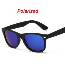 W3 Fashion Sunglasses Men Polarized Sunglasses Men Driving Mirrors Coating Points Black Frame Eyewear Male Sun Glasses UV400