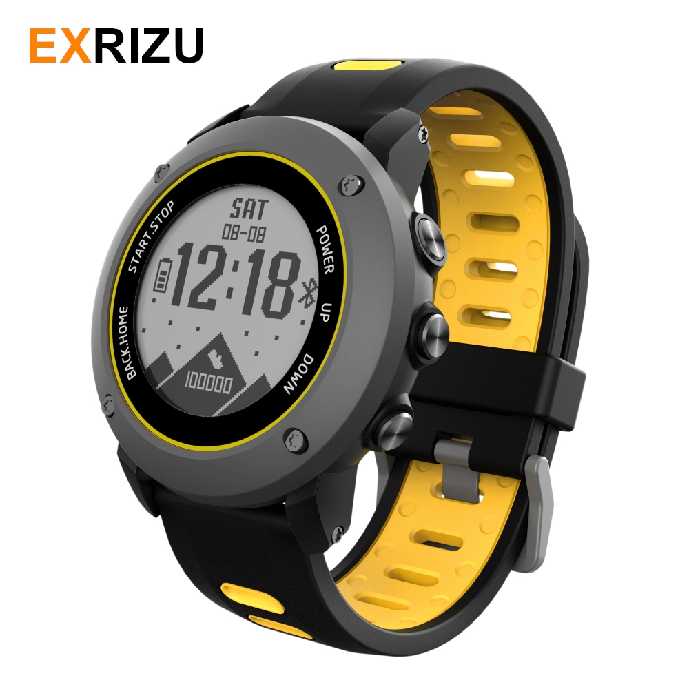 EXRIZU Professional GPS Sport Outdoor Smart Watch Wristwatch IP68 Waterproof Swim Heart Rate Fitness Tracker Compass RunningEXRIZU Professional GPS Sport Outdoor Smart Watch Wristwatch IP68 Waterproof Swim Heart Rate Fitness Tracker Compass Running