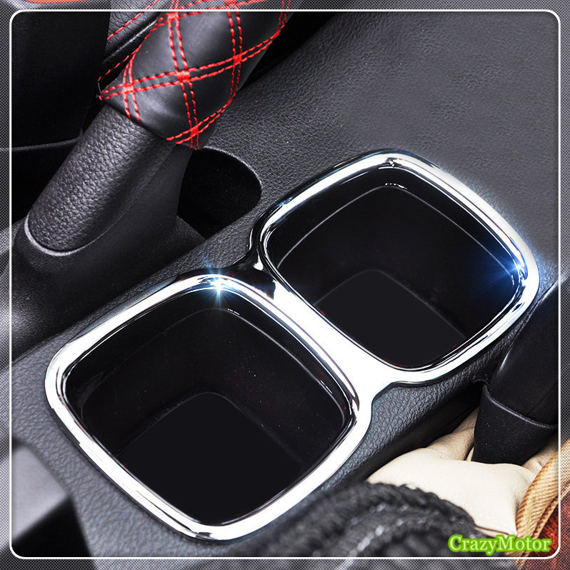 For Suzuki sx4 s-cross 2014-2018 ABS Chrome Car Interior Water Cup Holder cover trim sticker Auto accessories