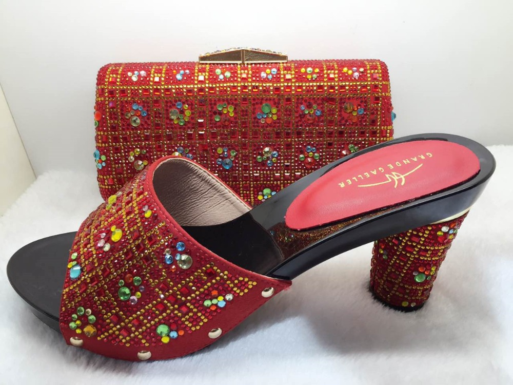 ФОТО Nice Quality African Wedding Shoes And Bags Set To Match Nigeria Wedding Shoes And Matching Bag Set For Parties TT90-22
