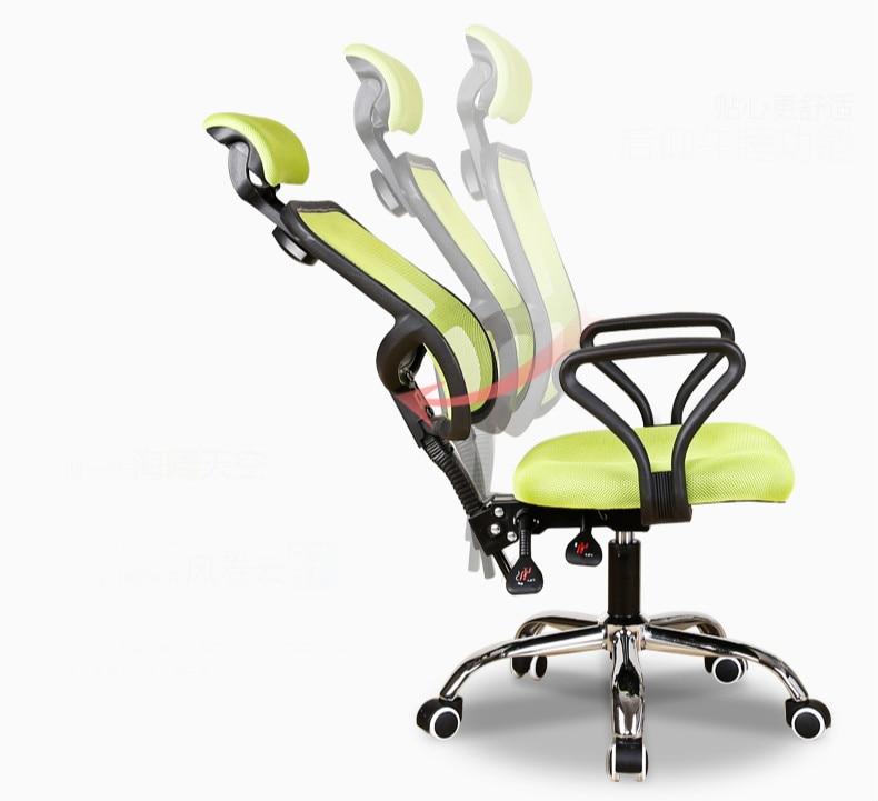 Bureaustoel Met Verstelbare Rugleuning.Heldere Kleur Ergonomische Executive Bureaustoel Lengthed Rugleuning