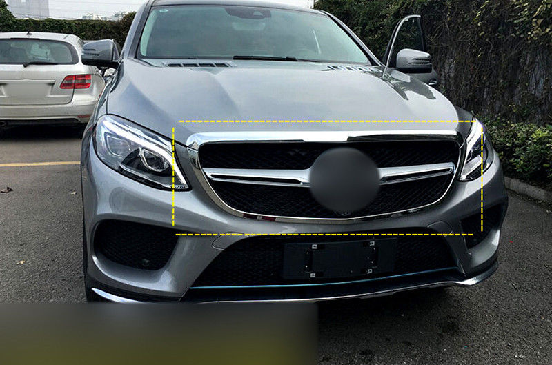 FIT Coupe Chrome Front Center Grille Grill Grid Around Cover Trim 2pcs For Mercedes Benz GLE Coupe C292 2015 2016 elikor оптима 60 медный антик
