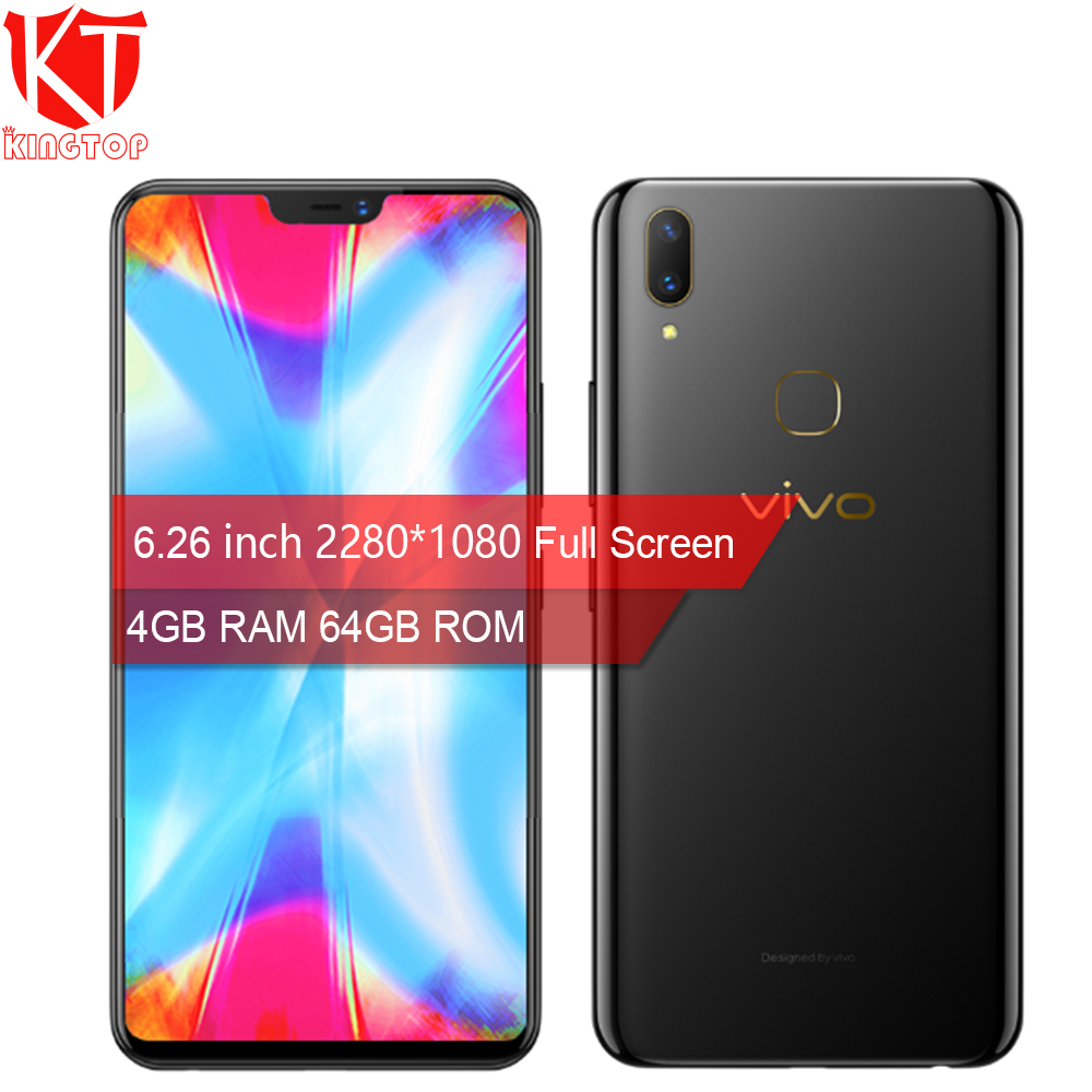 Original VIVO Y85 4GB RAM 64GB ROM Full Screen Snapdragon SDM450 6.26 inch Face Wake 2280*1080P Dual Camera Phone4G Mobile Phone