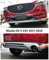 Автомобильный бампер пластина для Mazda CX-5 CX5 2017 2018 бампер Защита Высокое качество ABS Передние + задние автомобильные аксессуары