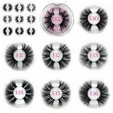 Mikiwi 25mm 50 pairs Free logo Mink Eyelashes Wholesale 16 styles round case custom packaging Label Dramatic 25mm 3D Mink Lashes