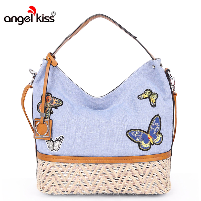 Angelkiss Brand Women Canvas Handbags Shoulder Bags For Women Crossbody Messenger Bags High Quality Tote bags Bolsa FemininaAngelkiss Brand Women Canvas Handbags Shoulder Bags For Women Crossbody Messenger Bags High Quality Tote bags Bolsa Feminina