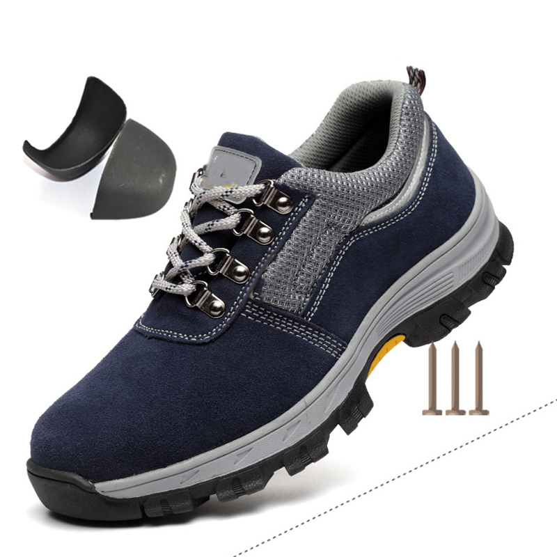 Купить с кэшбэком AC13001 Shoe Security Work Industrial Shoes Kitchen Shoe Heavy Duty Sneakers Toe Safety Shoes Lightweight Heated Boot Inserts