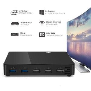 Image 2 - ミニpcインテルceleron 1007Uペンティアム2117U windows 10 300 150mbpsの無線lanギガビットイーサネットhdmi vga 2 * USB3.0 3 * USB2.0 tvボックス
