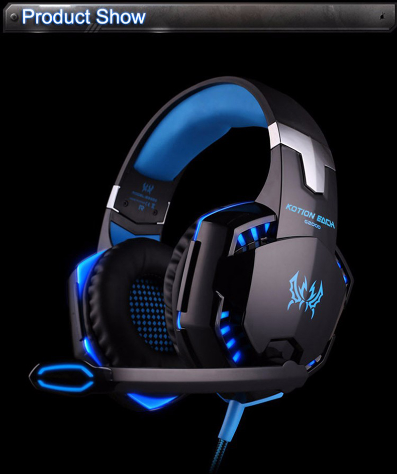 Best casque Computer Stereo Gaming Headphones Deep Bass Game Earphone Headset Gamer with Microphone Mic LED Light for PC Game  (6)