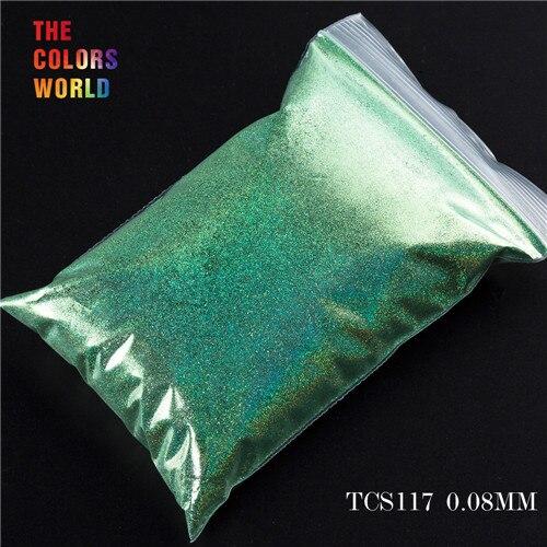 TCT-070 голографическая цветная устойчивая к растворению блестящая пудра для дизайна ногтей Гель-лак для ногтей тени для макияжа - Цвет: TCS117  50g