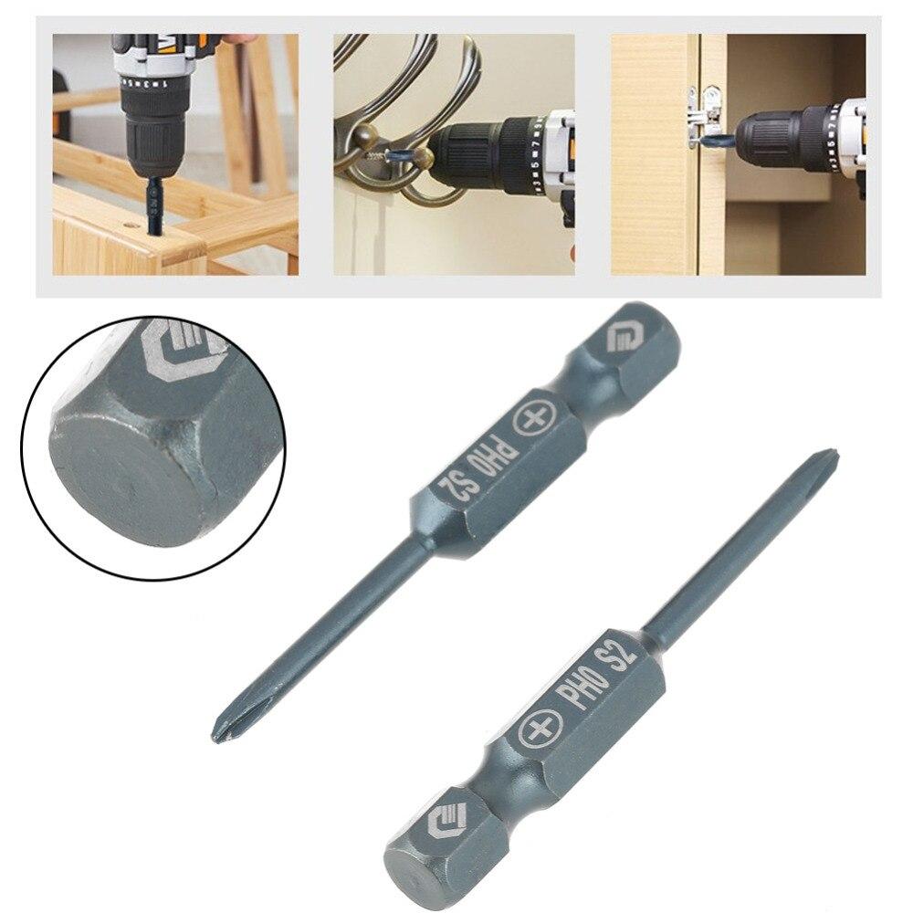 10pcs Screwdriver Bits Set Hex Shank Driver Bit PH0 50mm S2 Alloy Steel Cross Head Hand Tool tornavida seti destornillador