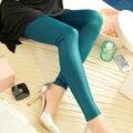 Hot venda nova 2015 moda mulheres Capris Plus Size S-XXXL PU couro Patchwork Leggings mulheres calças JN039