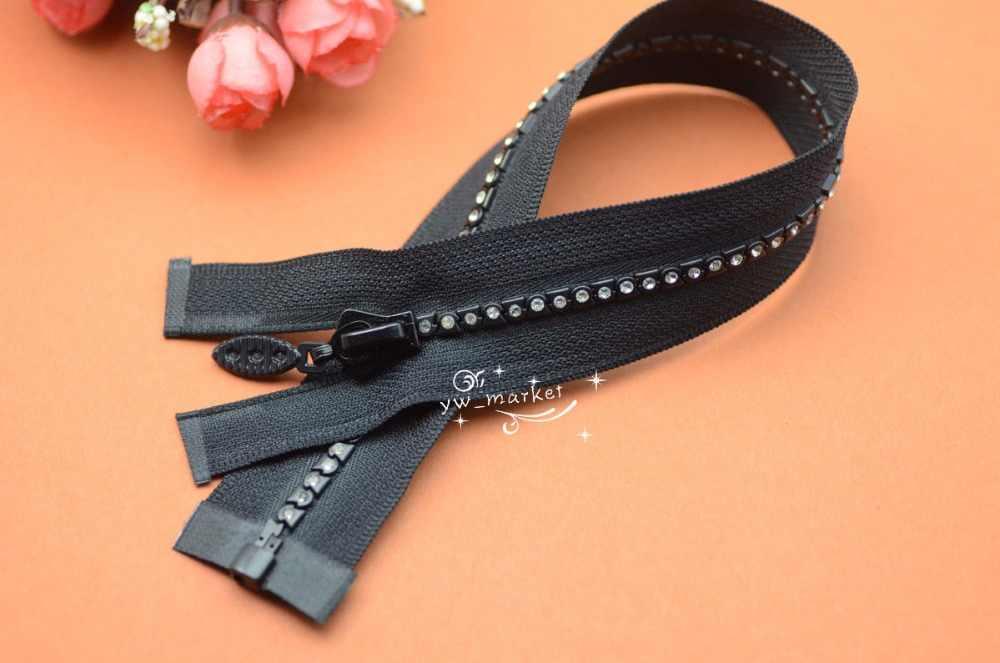 5 шт 20 см длинная B класс молния со стразами черный отлично подходит для Западной рубашки