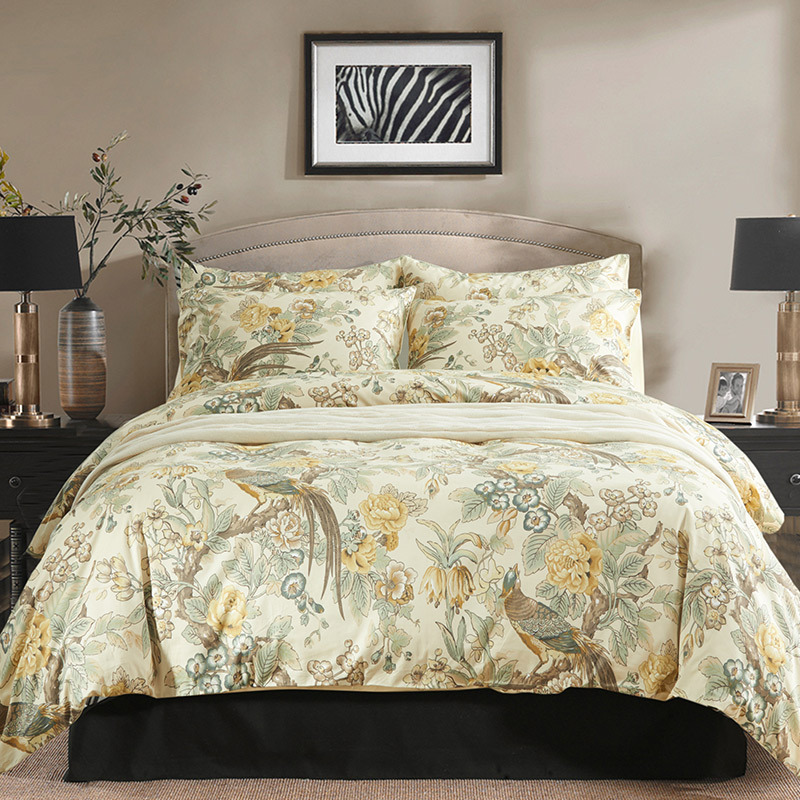 Super King Size Duvet Cover Egyptian Cotton Sweetgalas: Yellow Girls Bird Wedding/egyptian Cotton Luxury Bedding