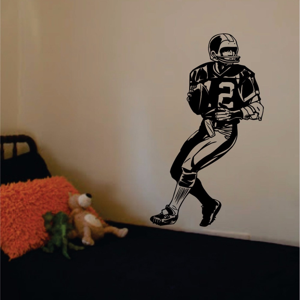 football player decal sticker wall art vinyl sports wall poster wall stickers for kids rooms boys