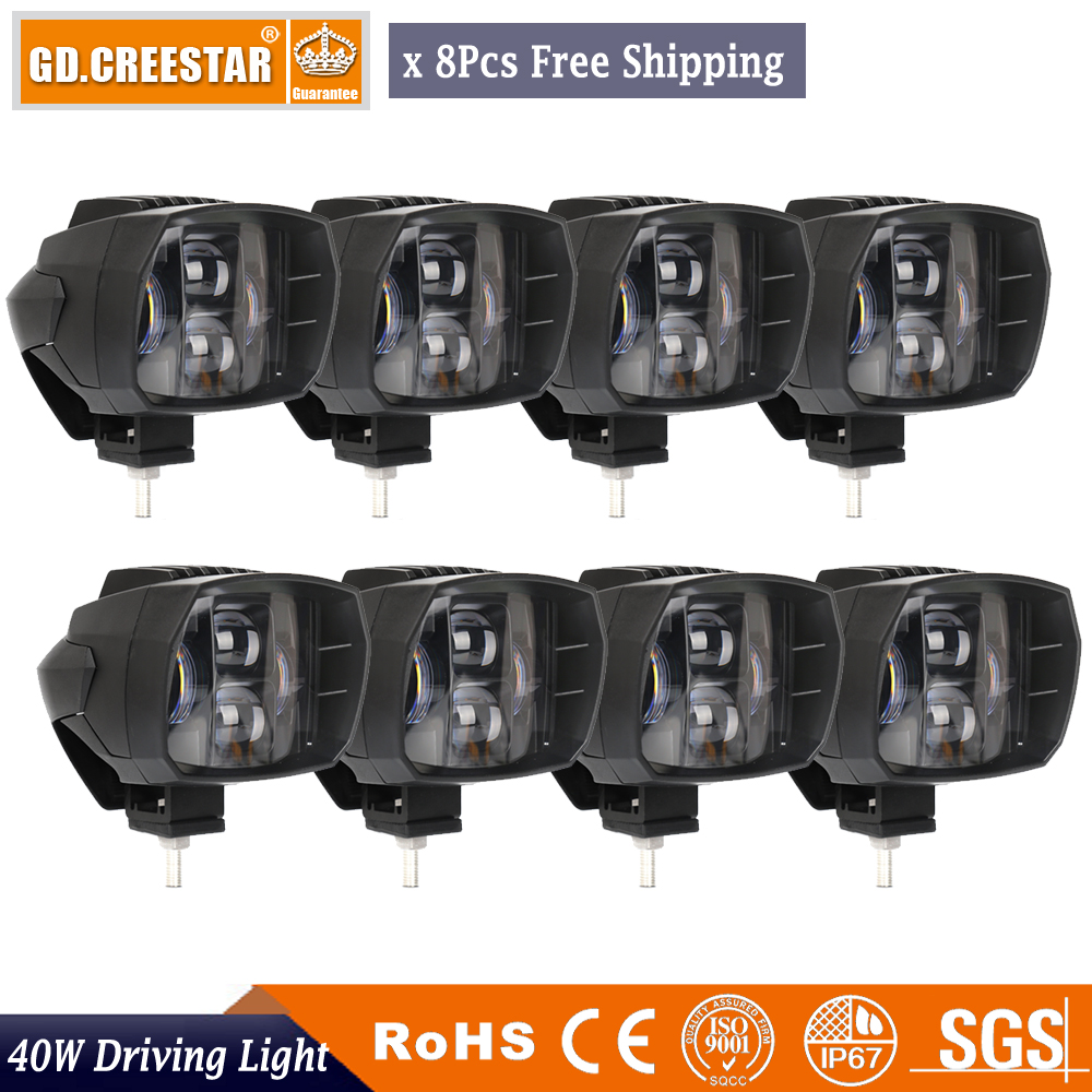 40W 5inch New LED Driving Light 12V 24V Led work Lamp for Truck Motorcycle ATV Car LED Offroad Light 4x4 Fog Drive Light x8pcs atreus 10pcs 3inch 12w car led work light 12v spot drl lamp for atv 4x4 truck offroad trailer motorcycle boat driving fog lights