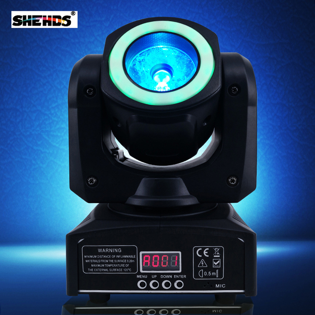 Mini LED 40W Moving Head Spot Beam Stage Lamps Effect Lighting RGBW & Mixed DMX For Professional KTV DJ Disco Bar Night Club