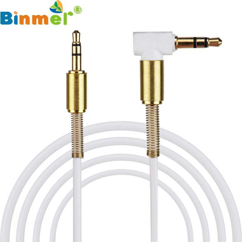 Factory Price Binmer 3.5mm Jack Audio Cable Male To Male 90 Degree Right Angle Aux Cable Drop Shipping J10T Good Quality