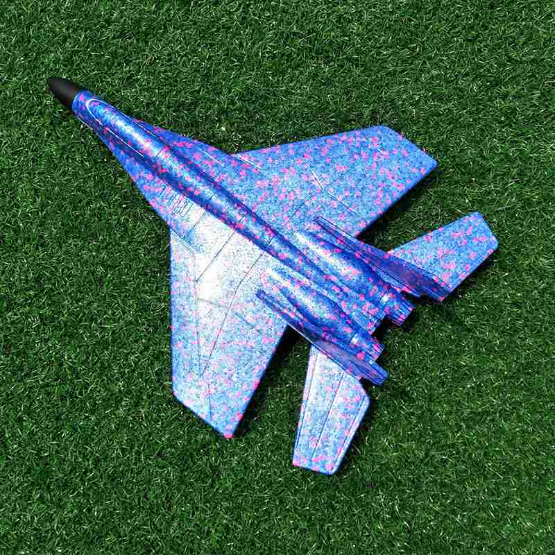 US $3 62 20% OFF|DIY Kids Toys Hand Throwing Model Airplane Foam Aircraft  Stunt Luminous Education EPP Glider Fighter Planes Toys For Children-in