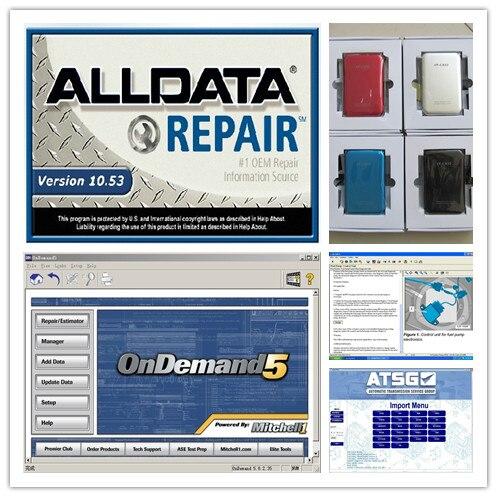 Prix pour Alldata 10.53 + mitchell sur demande 5 + lpga transmission 3 logiciels avec 750 gb hdd auto réparation date toutes les données meilleur prix