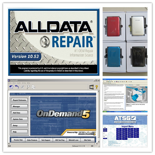 Alldata 10.53 + Mitchell On Demand 5 + Atsg Transmission 3 Softwares With 750gb Hdd Auto Repair Newest All Data Best Price