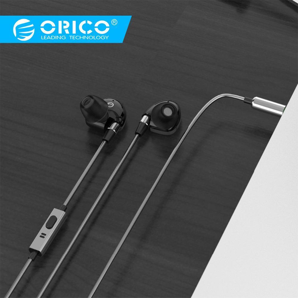 ORICO Super Bass 3.5 milímetros Fone de Ouvido de Alta Fidelidade Da Música À Prova D' Água com Microfone Estéreo Baixo Música Fone de Ouvido para o Telefone Móvel (SOUNDPLUS-P1)