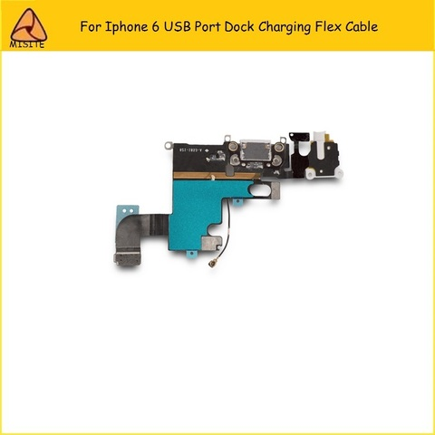2Pcs/Lot New Phone Port Charging Flex for Iphone 6 6g 4.7 USB Dock Charger Port Connector Audio Jack headphone Flex Cable Lahore