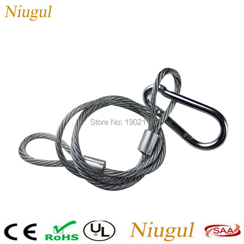 Commercial Lighting 50pcs/lot Dj Lighting 85cm Steel Wire Stage Lights Safety Ropes Security Cables Equipment For Led Par Light Bar Led Moving Head