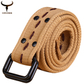 [COWATHER]hot sale high quality canvas unisex blets nine colors 2016 fashion style newest design neutral belt free shipping