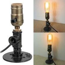 220 V-240 V Vintage Industrial de estilo Retro de diseño de un solo enchufe de mesa de noche de hogar lámpara de escritorio