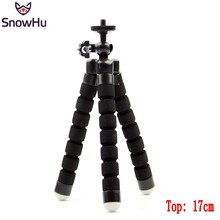 SnowHu New versatile Versatile Leg Mini Tripod for Go professional Digital  and cellphone  mount adapter for gopro hero 6 5 four Three+ xiao yi Digital camera