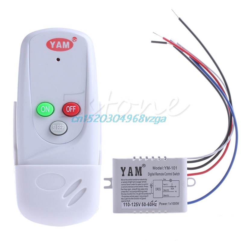 Switch New Remote Control Switch Wireless 1Way Light Lamp ON/OFF 110V Anti-interference #H028# 2pcs receiver transmitters with 2 dual button remote control wireless remote control switch led light lamp remote on off system