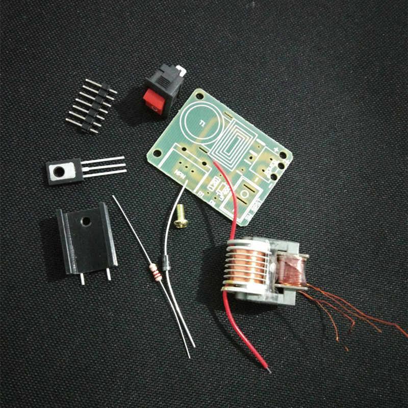 15KV High Voltage Inverter Frequency DC Generator Spark Arc Ignition Coil  Module 18650 DIY Kit U Core Transformer Suite 3 7V