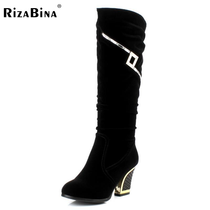 ФОТО women high heel half short boot mid calf warm winter snow glitter boots fashion office work footwear shoes P21861 size 34-40