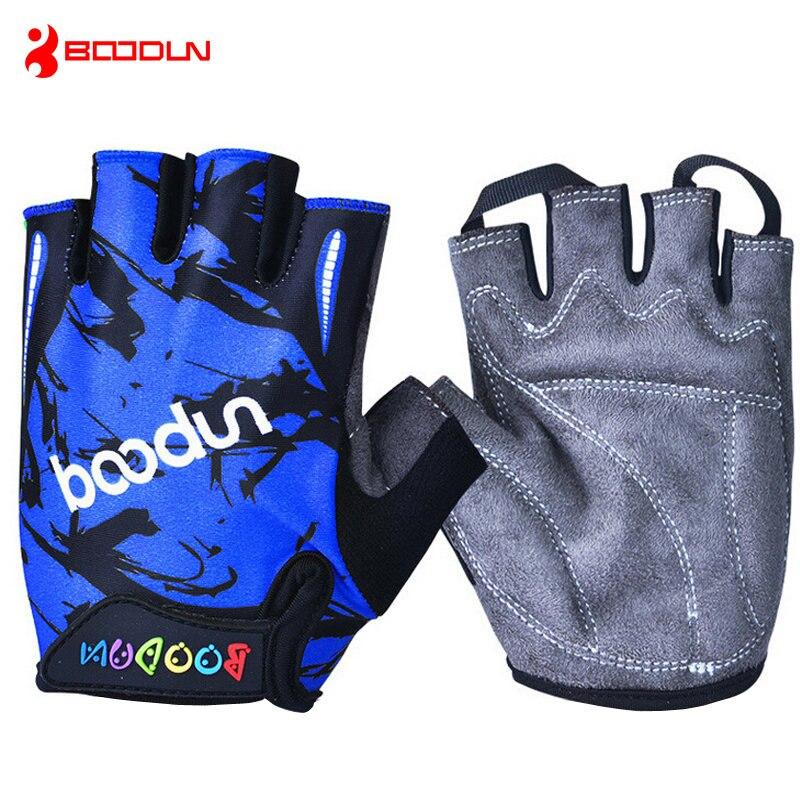 Bike Bicycle Gloves Kids Child Rabbit Outdoor Sports Non Slip Half Finger Gloves