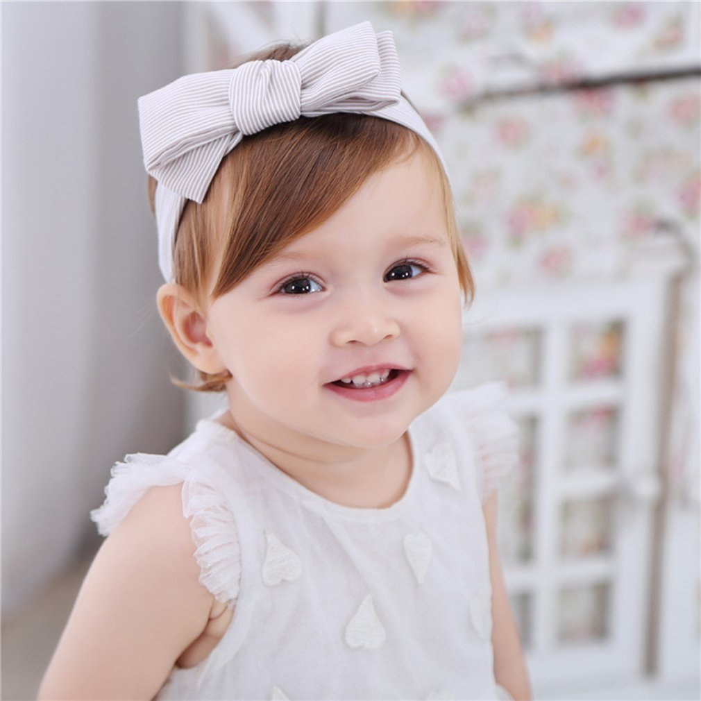 Cute Stripe Cotton Baby Girls Headwear Head Wraps Turban Headband Newborn Infants Rabbit Ears Hair Accessories For Babies