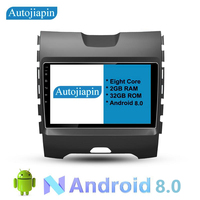 AUTOJIAPIN 9 Eight Core Android 8.0 2G RAM 1024*600 Car DVD GPS Navigation Player For FORD Edge RANGER With HD Touch Screen