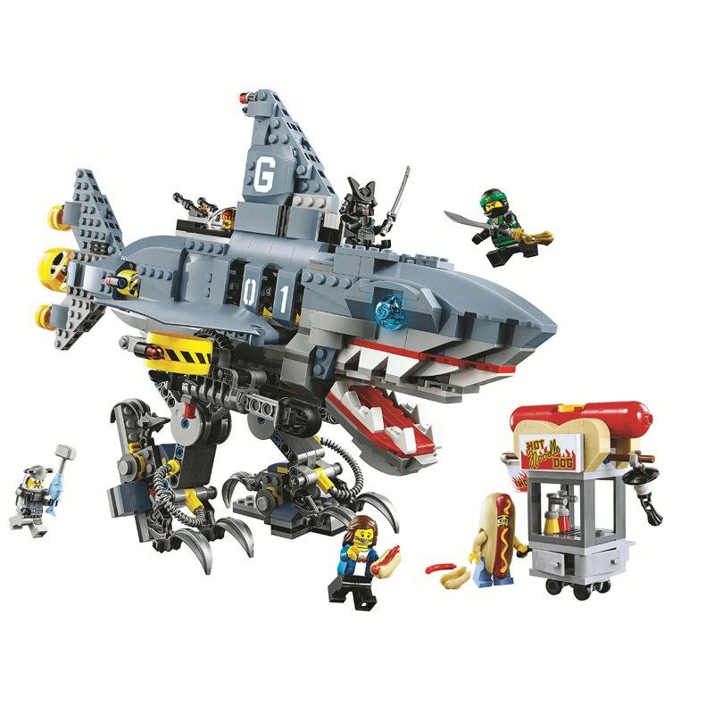Bela Compatible Legoe giftse Ninjagoe Película 70656 Garmadon Shark - Juguetes de construcción - foto 2