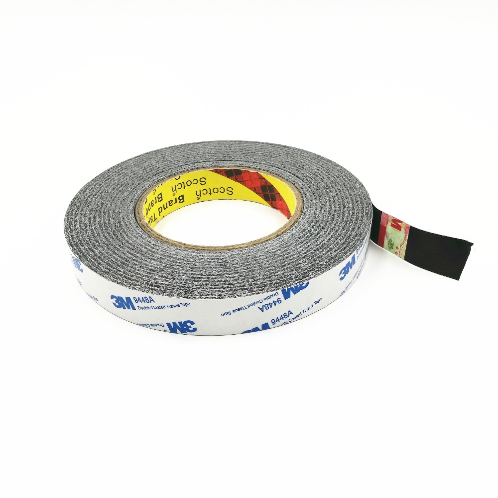 20mm * 50m 3m9448a black double-sided tape ultra-thin mobile phone notebook LCD screen toy car Double Sided Adhesive Tape yitap 25 lot double side pet double sided adhesive tape for lcd screen double sided tape