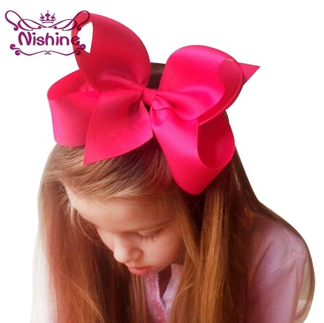Nishine 6 Inch Boutique Big Ribbon Bows Hair Clips For Baby Girls Barrettes Children Accessories Hairpins Headwear