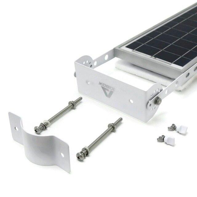 Alpha 1080X Outdoor Motion Sensor Solar Powered LED Pole Wall Street Path Solar Light For Garden 3 Working Mode Solar Lamp 4