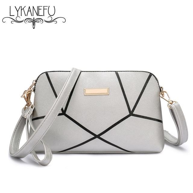 LYKANEFU New Shoulder Bag Handbags Women Messenger Bags Long Strap Shell Pattern Women Clutches Bolsas Femininas Dollar Price